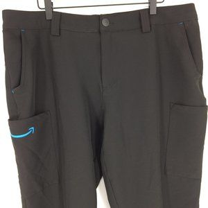 Luly Yang Amazon Black Cargo Stretch Work Pants